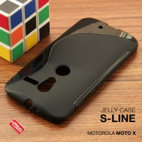 Motorola MOTO X Soft Jelly Gel Silicon Silikon TPU Case Softcase Hitam