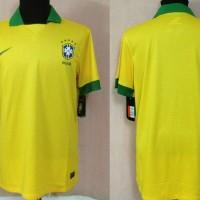 Retro Jersey Baju Bola Soccer Brazil Home 2013-2014