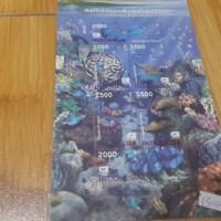 Mini sheet perangko kehidupan bahwa laut Indonesia