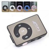 C-Logo MP3 Player TF Card with Small Clip Silver T2219