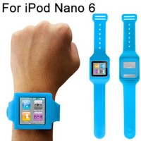 Silicone Case Watch Band for iPod Nano 6 T2478