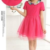 KD10 Princess Girl Dress Import Kids PiNK (Size 12)