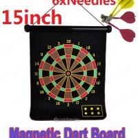 Jual Magnetic Dart Board uk 15 inch Murah