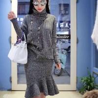 BJGG5f6QC top + skirt, setelan impor, baju dan rok, rok selutut,casual
