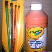 Crayola Paket Washable Finger Paint 1 Botol Orange 473 Ml