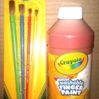 Crayola Paket Washable Finger Paint 1 Botol Red 473 Ml