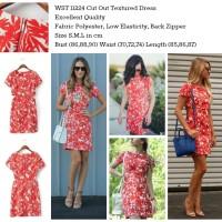 WST 11224 Cut Out Textured Dress (S,M,L)