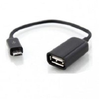 USB OTG Cable For Smartphone / Android-Micro USB To USB Female Port
