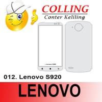 Stiker / Garskin Handphone / all type / Lenovo / Lenovo S920