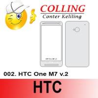 Stiker / Garskin Handphone / all type / htc / HTC-One-M7-v.2