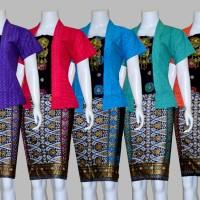 D1736 Setelan Rok dan Blouse Batik Pendek Wanita
