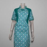Dres Batik Warna Pastel Saku Kawung / Sek Dress Terbaru / Gaun Lucu