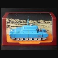 Tintin diecast tank explores on the moon