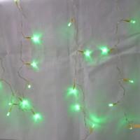 Lampu Natal LED Tirai Hijau