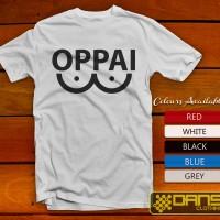Kaos Distro, Kaos Funny, Kaos Anime, Kaos Logo - Kaos OPPAI funny Logo
