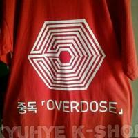 Tshirt Kaos Overdose Exo Kai Chen Chanyeol Luhan Sehun Baekhyun