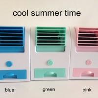 AC Duduk Mini Portable Fragrance Handy Cooler Bladeless Fan Kipas Door