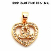 harga XP1388-DB Liontin Chanel Perhiasan Lapis Emas Gold Tokopedia.com
