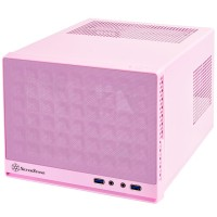 SilverStone Casing SG13P (Pink, Mesh Front Panel)