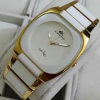 Jual jam tangan QUICKSILVER rantai semi keramik rosegold Murah