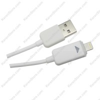 Taff Luminous Conector Lightning 8 Pin USB Cable IOS 9 Orange