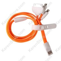 Taff Multifunction 4 In 1 USB Charging Cable 80cm Orange