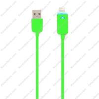 Taff Luminous Conector Lightning 8 Pin USB Cable IOS 9 Green