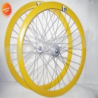 1 set Wheelset Origin 8 Hub Rh+O 32H Yellow/Silver
