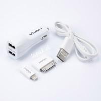 Jual VIVAN USB CAR Charger CC02B Charger untuk mobil Murah
