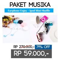 harga PAKET MUSIKA (Earphone Enjoy + iPod Mini Shuffle) Tokopedia.com