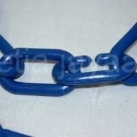 Rantai Plastik / Gantungan Baju Distro / Rantai Gantungan Baju Biru