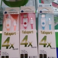 Kabel Data Teleport Hippo Micro 22cm For Samsung Lenovo Oppo Xiaomi