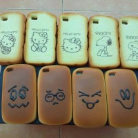 Breadcase & Ropang iPhone4 & iPhone 4s Hello Kitty , Snoopy , Smile