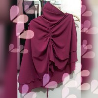Jilbab Instan Serut satu sisi Maryam Series warna Pink Manggis