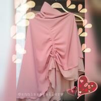 Bergo Instan Serut Maryam Series by AnnisaA dustypink-salmcreamy