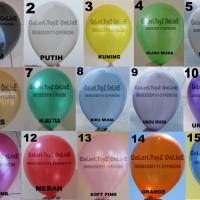 Balon latex Metalik 12 inchi/30cm