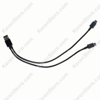 Dual Micro USB Splitter Sync and Charge Cable - Black