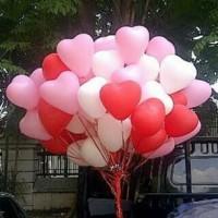 Balon latex bentuk hati / love warna putih