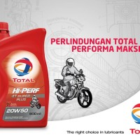 Oli Motor Terbaik TOTAL Oil (Made in France) Hi-Perf 4T Super Plus