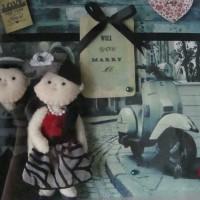 Boneka flanel couple in frame