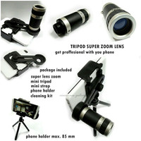 TELE ZOOM 8x + TRIPOD / MOBILE PHONE TELESCOPE
