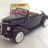1936 FORD DELUXE CABRIOLET, SKALA 1:24 - WELLY (DIECAST-MINIATUR)