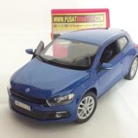 VW SCIROCCO (BIRU) - SKALA 1:24 - WELLY (DIECAST-MINIATUR)