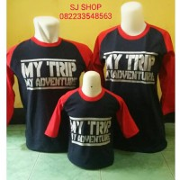 KAOS COUPLE FAMILY RAGLAN ANAK KARAKTER MY TRIP MY ADVENTURE 2