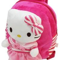 Onlan Tas Ransel Anak Boneka Hello Kitty Pita Bahan Halus