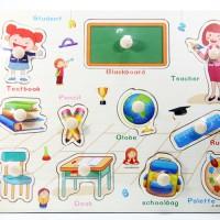 Jual Puzzle Kayu Pin Knob Knop Ruang Kelas Mainan Edukasi Anak PP-013 Murah