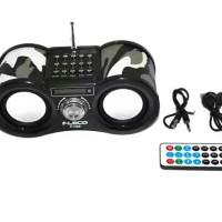 Multi Portable Speaker Fleco Pake Remote (Teropong) F-1308 Army