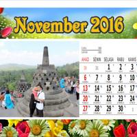 Kalender Meja Bahan Board bisa pakai foto