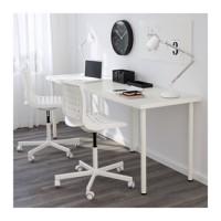 IKEA LINNMON / ADILS Meja, Putih, 200x60 Cm
