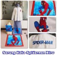 Sarung koko spiderman biru size M